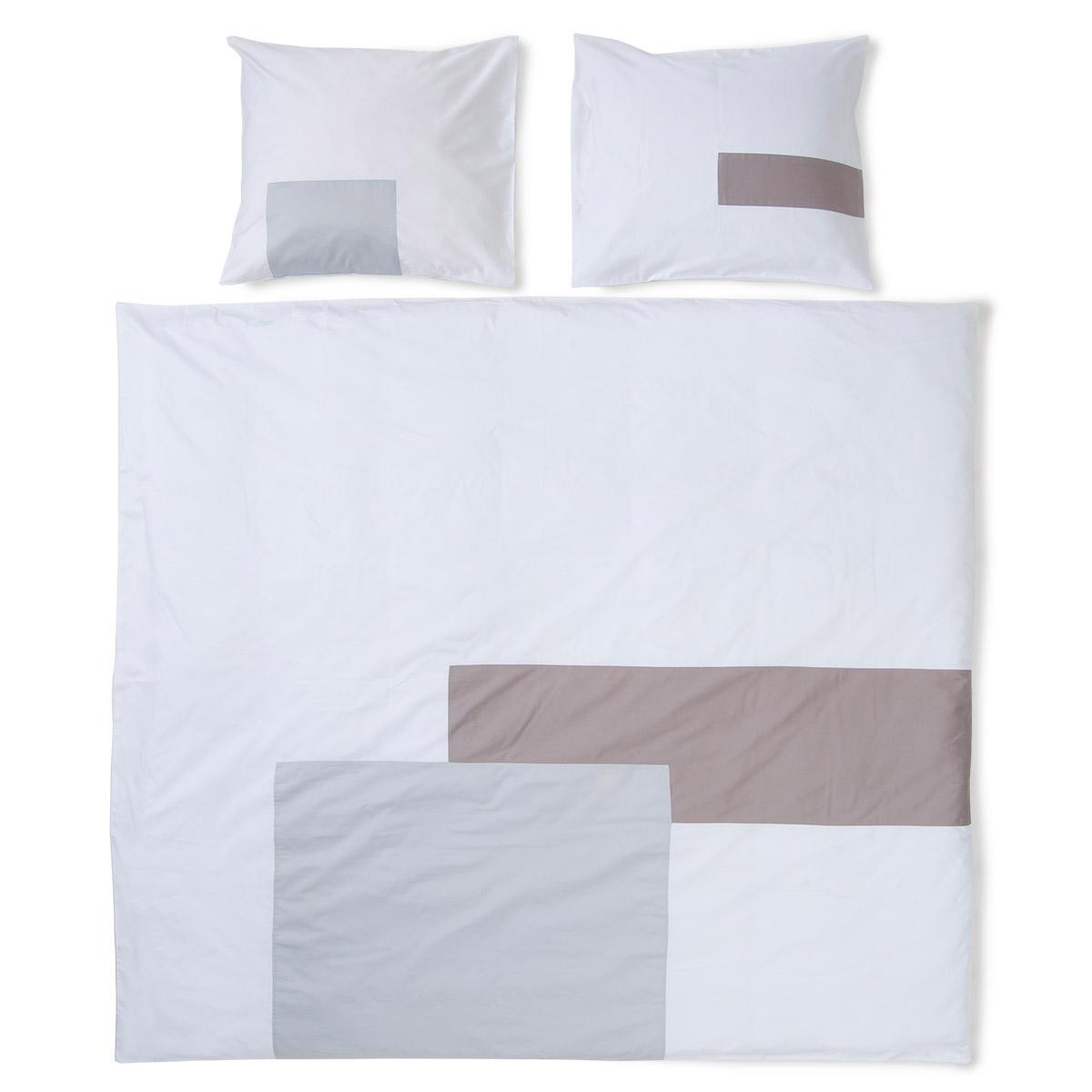 housse de couette mod le rectangle collection 01 gris clair. Black Bedroom Furniture Sets. Home Design Ideas