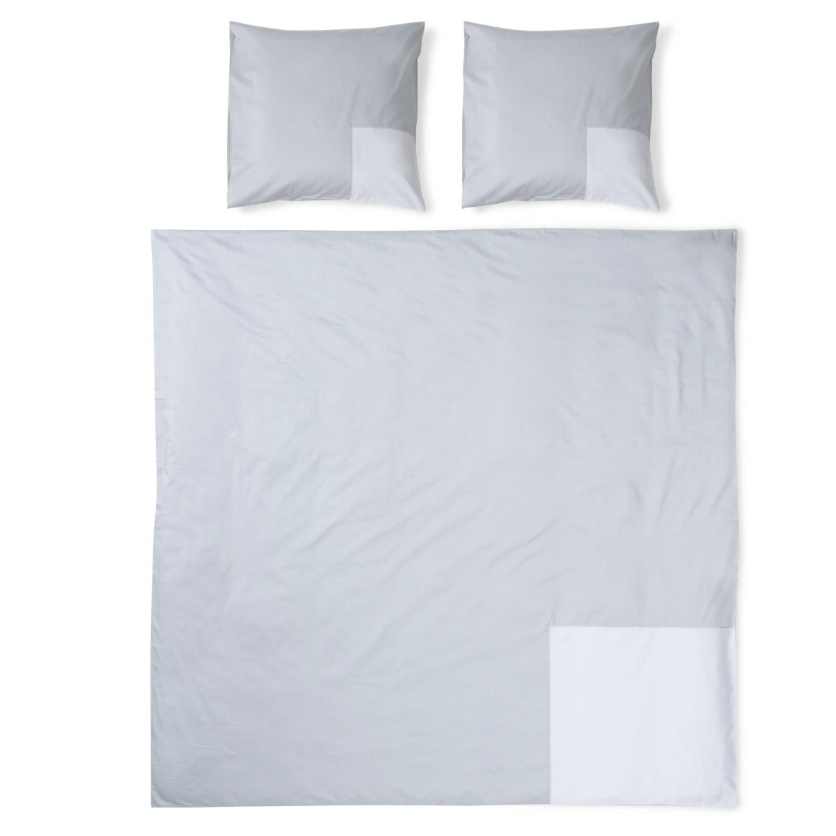 housse de couette mod le carre collection 01 gris clair. Black Bedroom Furniture Sets. Home Design Ideas