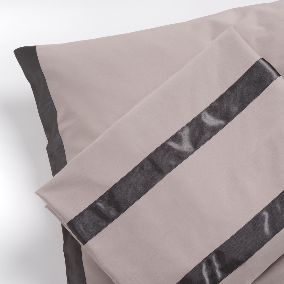 housse de couette mod le traits gris clair. Black Bedroom Furniture Sets. Home Design Ideas