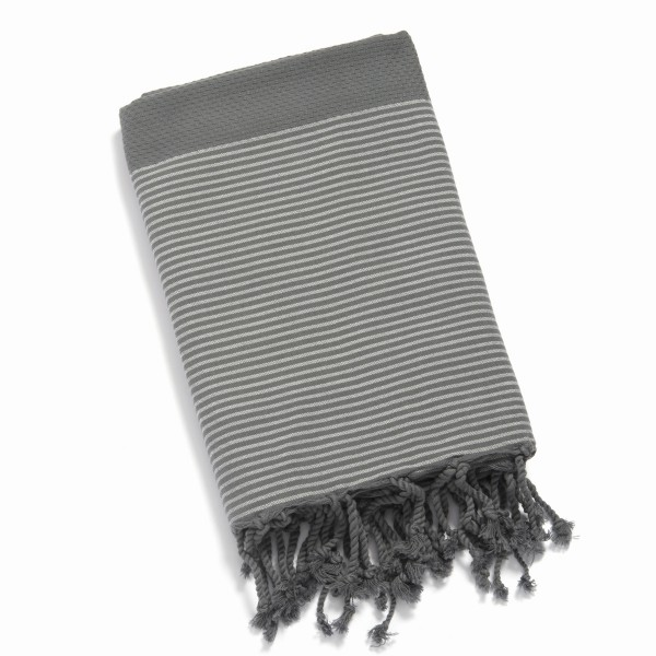 Fouta nid d abeille anthracite gris clair for Carrelage nid d abeille