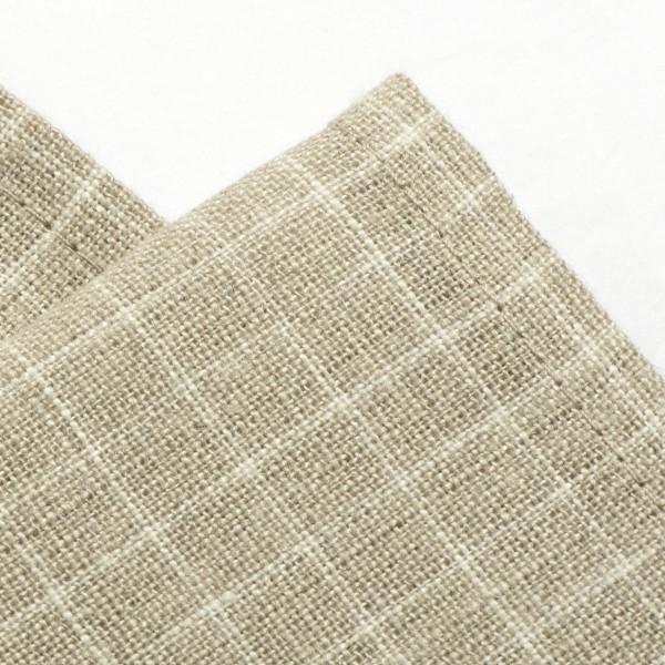linge de cuisine en lin ficelle carreaux blancs gris clair. Black Bedroom Furniture Sets. Home Design Ideas