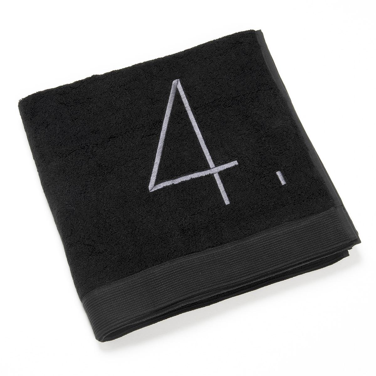 drap de bain fibre bambou noir n 4 gris clair. Black Bedroom Furniture Sets. Home Design Ideas